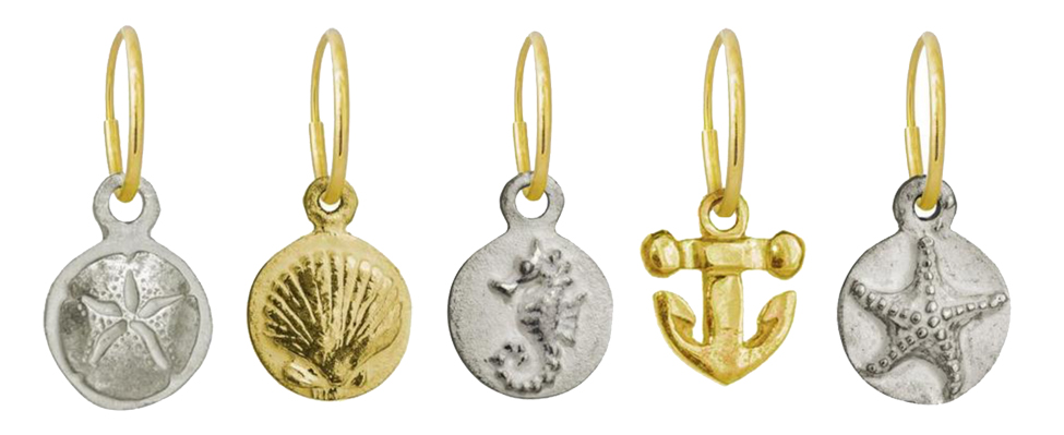 Summer Jewelry 2018: Sand Dollars, Shells, Sea Horses, Anchors, Starfish